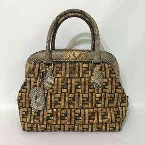 Authentic Fendi Bamboo Whipstitch Doctor Bag